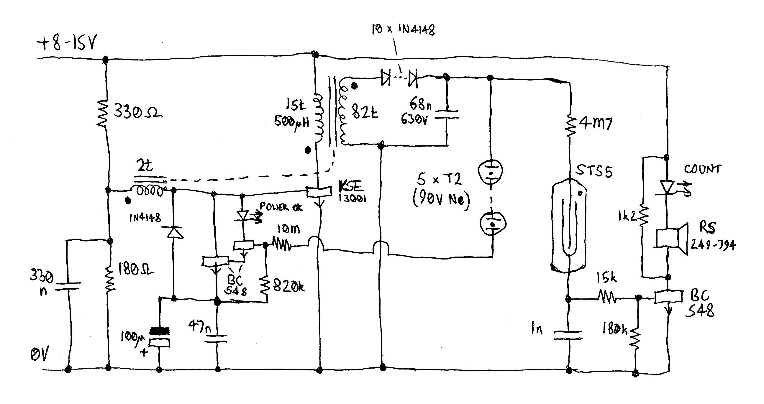 Geiger Counter CCD Camera Wiring Diagram Geiger Counter Wiring Diagram