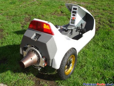 Sinclair C5 with turbojet engine