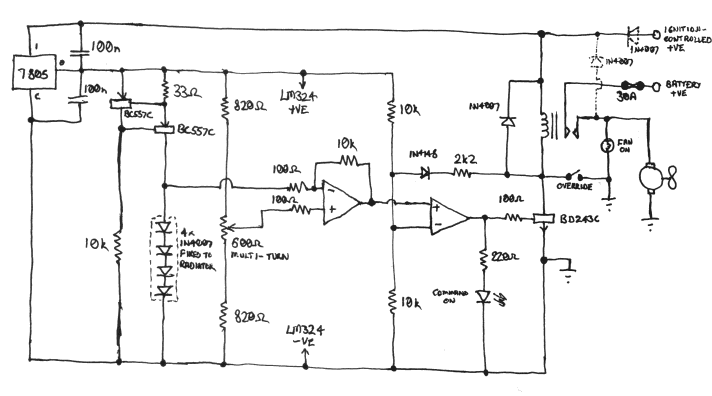 thermostat volvo 164 electric fan thermostat electric fan circuit diagram at gsmx.co